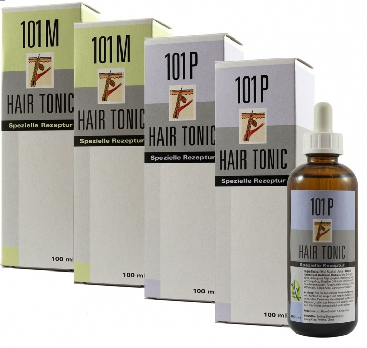 4er Set 2x 101M+ 2x 101P Hair Tonic