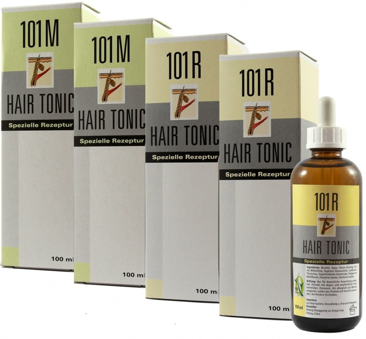 4er Set 2x 101M+2x 101R Hair Tonic