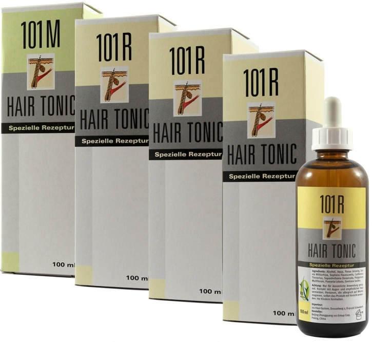 4er Set 1x 101M+3x 101R Hair Tonic